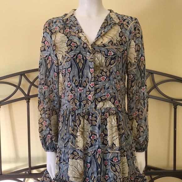 a04fa300de25 H&M Dresses   Hm Dress Morris Co Floral Dress Size 6   Poshmark